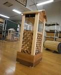 こちらは犬小屋をモチーフにしたスタンプ台